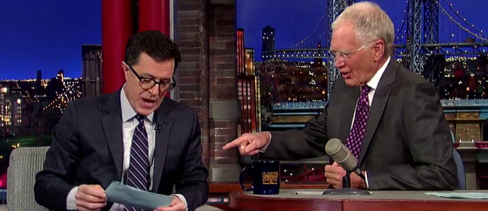 Watch Stephen Colbert Deliver a Boozy Top Ten List on 'The Late Show With David Letterman'