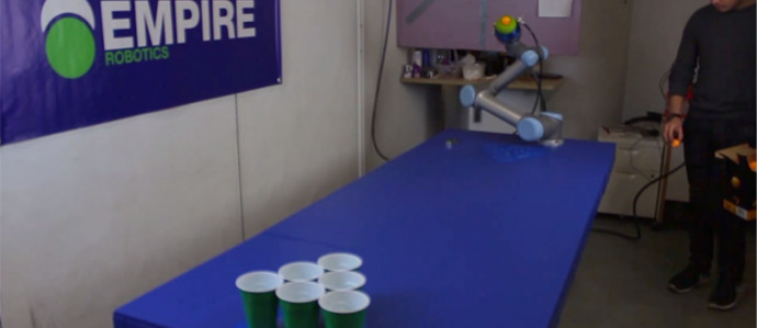 This Robot from CES Will Beat You in Beer Pong