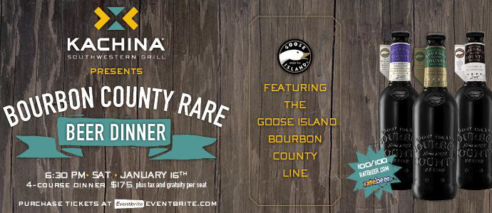 Kachina Hosts Beer Pairing Dinner With Bourbon County Rarities, Jan. 16