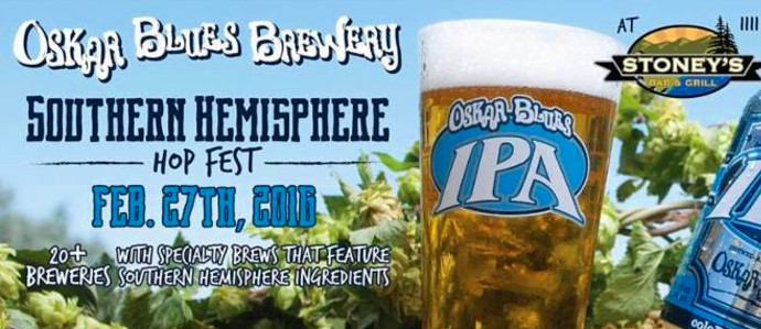 Hit the Southern Hemisphere Hop Fest at Stoney's, Feb. 27