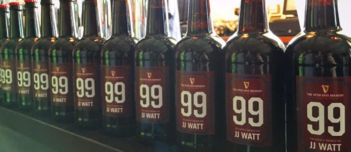 Guinness Open Gate Brewery Personalizes a Brew for NFL Star J.J. Watt