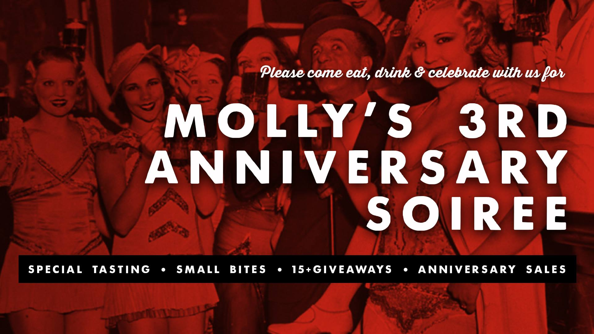 Celebrate Three Years of Spirits at Molly's