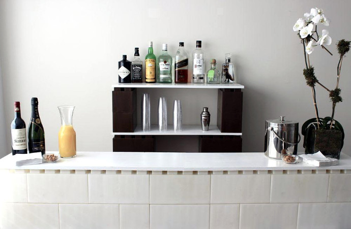 Because Nothing Says Self Reliance Like Sipping A Few G Ts At The Sleek Modular Home Bar You Built By